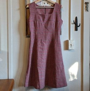 Vintage 60's wool houndstooth dress